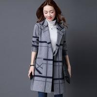 M 5XL Korean Coat Women Spring Autumn Knitted Sweater Plus Size Cardigan Women Winter Jacket Loose Big Yards Long Sweaters Coat