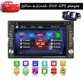 Автомобиль головного устройства Камеры Универсальный 2 din 6.2 ''Автомобильный GPS Навигации DVD Video Player HD Сенсорным Экраном Автомобильный Стерео Радио FM/AM Bluetooth