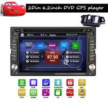 "Car headunit Camera Universal 2 din 6.2"" GPS Navigation Car DVD Video Player HD Touch Screen Car Stereo Radio FM/AM Bluetooth"