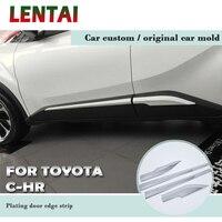 LENTAI Auto Car Bumper Anti collision Modified Plating Door Edge Strip Stickers For Toyota CHR C HR 2018 2017 2016 Accessories