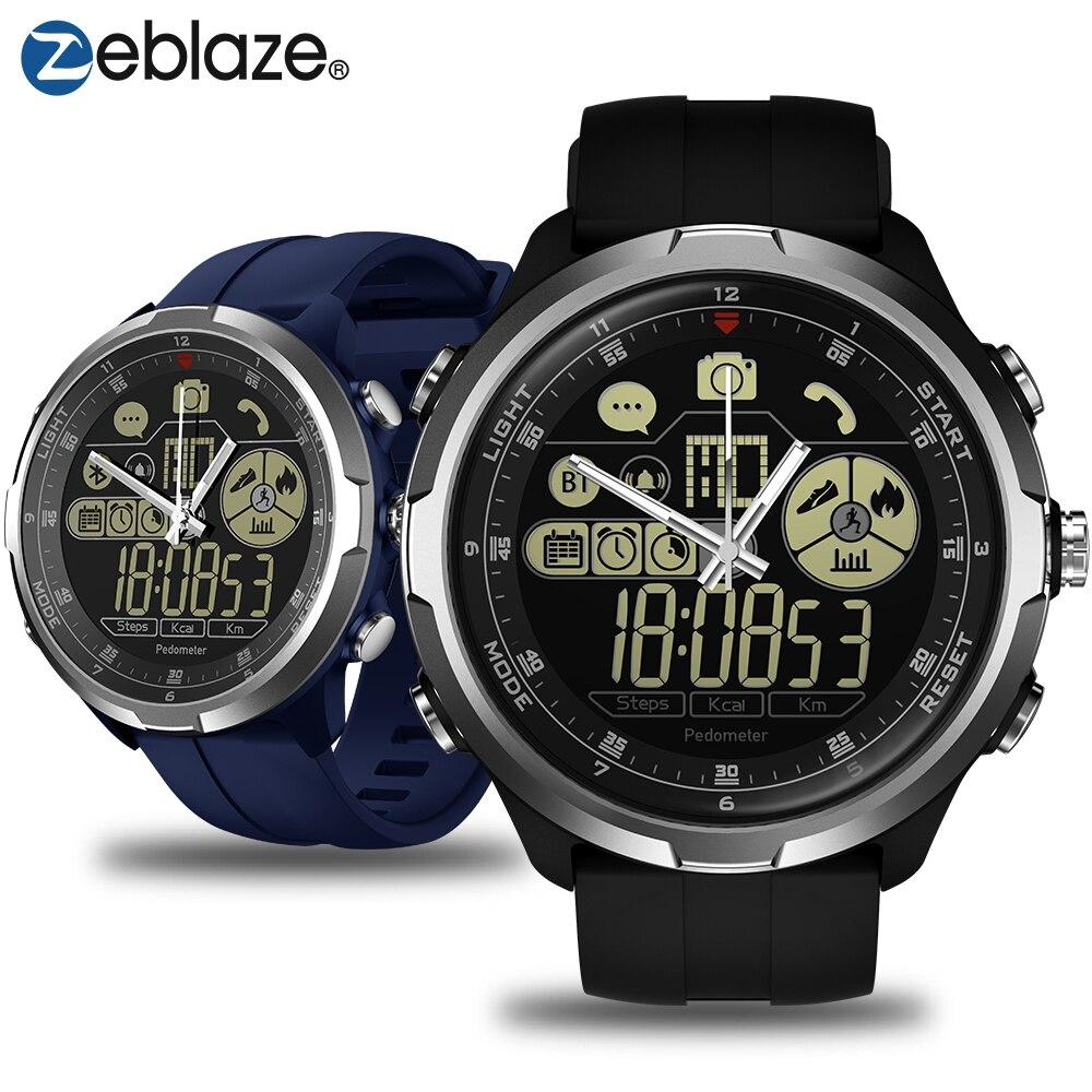 Zeblaze VIBE 4 HYBRIDE Robuste Hybride Smartwatch 50 m Étanche 12-mois Veille Temps 12 h Tous Les Temps surveillance Montre Smart Watch Hommes