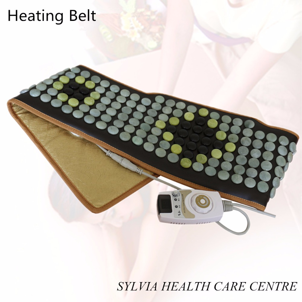 Health care heating jade massage belt with tourmaline stone heating therapy waist belt support pain release концентрат health