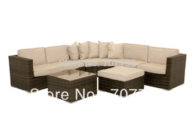 US $948.1 5% OFF|Barcelona Corner Group Rattan sofa set Brown or Black-in  Garden Sofas from Furniture on Aliexpress.com | Alibaba Group