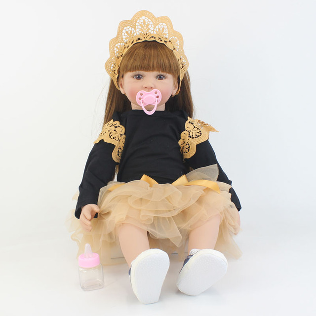 Special Offer 60cm Reborn Toddler Doll Toy For Girl Silicone Vinyl Limbs Princess Babies Alive Bebe