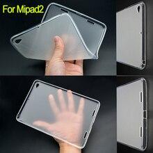 Mipad2 semi transparente volver case case ultra thin tpu de goma para xiaomi mipad 2 case cubierta funda de silicona para mi pad2