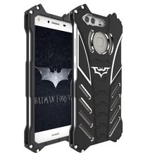 Luxury Batman Kickstand Shockproof Case For Huawei P9 Plus Honor 8 Aluminum Bumper Metal Back Cover for Huawei Mate 7 8 case(China)