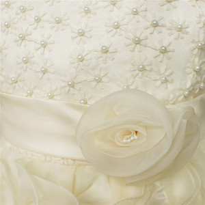 Image 2 - Nueva flor de alta calidad para niña, vestido de princesa Pageant para niña pequeña, regalo, vestidos de primera comunión de Organza