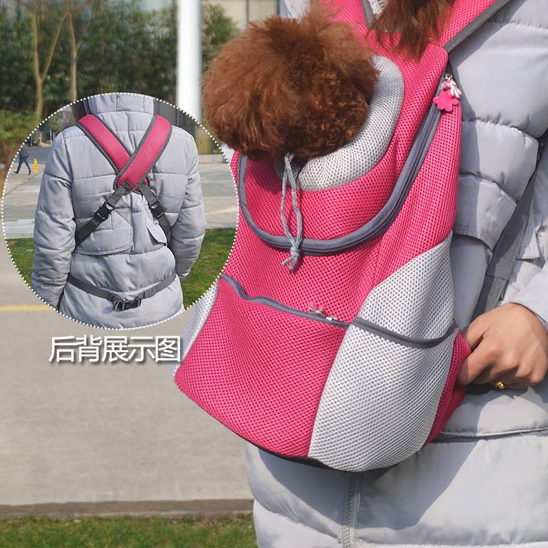 dog carrier backpack New fashion pet out double shoulder bag chest backpack out breathable portable bag