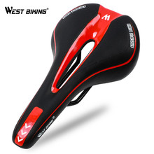 WEST BIKING Bicycle Saddle PU Leather Silicone MTB Road Bike Cushion Anti-Skid Cycling Front Seat Mat Comfortable
