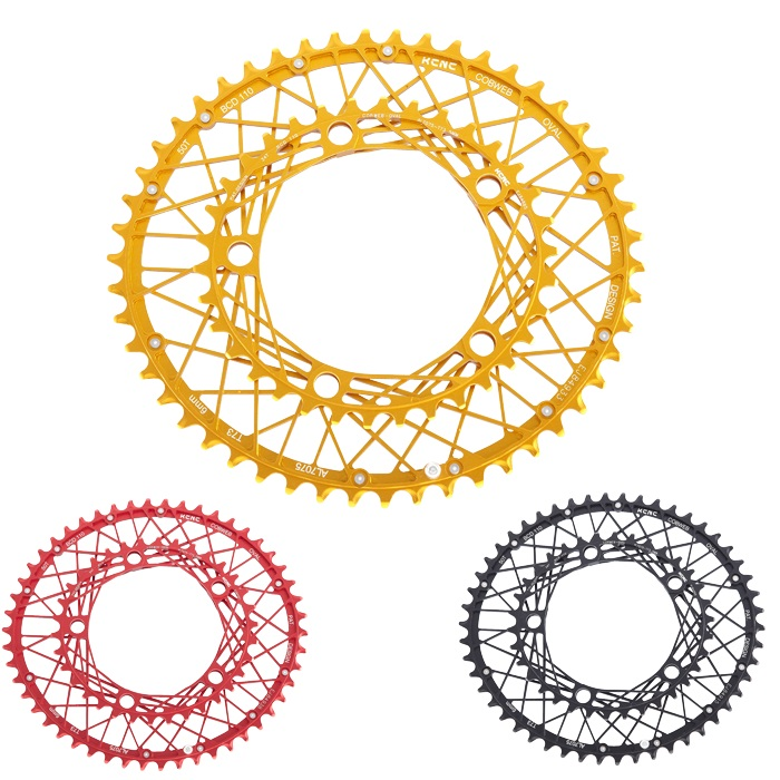 KCNC K6 COBWEB Oval Chainring <font><b>110bcd</b></font> <font><b>50T</b></font> 34T road bike chainring oval 130BCD 53T 39T 5 ARM Ultra light 90G 30G Made in Taiwan image