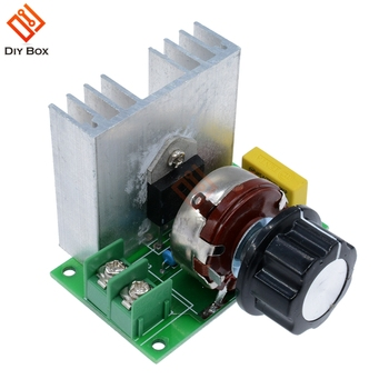 AC 4000W DC Motor Speed Controller Regulator SCR Dimmer Module Switch Module Brushless Motor Speed Control Power Regulator brushless motor controller for dc12v 30a high power brushless motor speed controller dc 3 phase regulator pwm