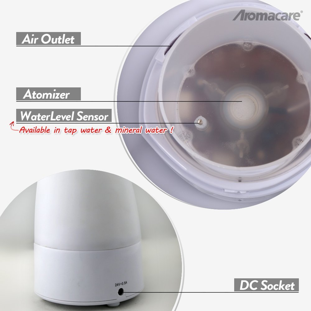 Aromacare Humidifier Mini Olie Diffuser Farverig Lys Lamp Diffuser - Husholdningsapparater - Foto 6