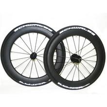SEMA T700 18 inch 355 carbon fibre wheelsets with DATI for Birdy V Brake hub racing bike wheels 960g best quality