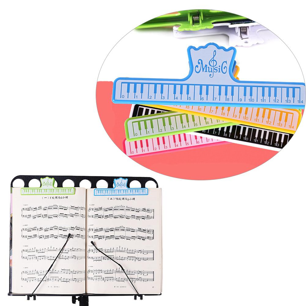 Dragonpad 15cm Portable Music Sheet Book Opener Page Clip Plastic Book Music Note Score Holder Clamp Performance Accessories