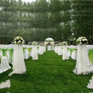 Image 5 - Tani! 48cm * 5 metr Sheer Crystal Organza tkanina tiulowa w rolce do drapowania ceremonii ślubnej dekoracje do domu na imprezę nowy rok dekoracji
