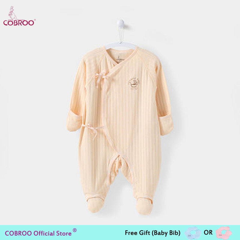 cobroo newborn baby footies 100 cotton long sleeve 2018 new spring 0 3 month infant clothes baby girl boy jumpsuit ny150013