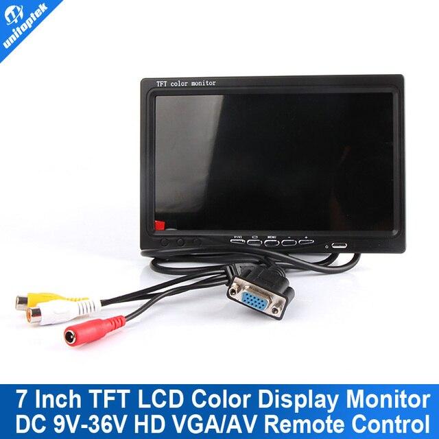 DC 9V-36V 7 inch TFT LCD Color Display Screen Car monitor HD Digital VGA/AV Remote Control DVD VCR Support As Computer Screen