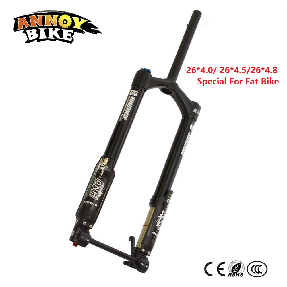 USD-6 FAT Wide Fat Fork 26 Air Suspension Bicycle Front Fork For MTB 26*4.0 26*4.5 26*4.8 Snow Bike Fat Bike Beach Bike Ebike 2016 new fat bike fork 26 snow bike suspension fork for beach bike 26 fork bike accessories 5 color