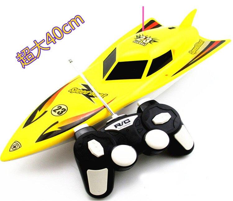 Jouet bateau en plastique Mini hors-bord 3 canaux enfants jouets électriques bateau sans fil télécommande bateaux cadeaux pour enfants babiole