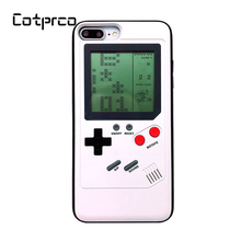 COTPRCO Tetris Classic Games Case For iPhone X 8 7 6 Console Cover Protective Gameboy TPU Case For X 8 8P 7 7P 6 6P Fitted Case hat prince protective tpu case cover w stand for iphone 6 4 7 white