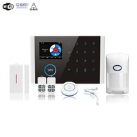 App RFID Multi network languages wireless SIM WIFI GSM GPRS burglar alarm host doorbell Security alarm system LCD Touch Keyboard