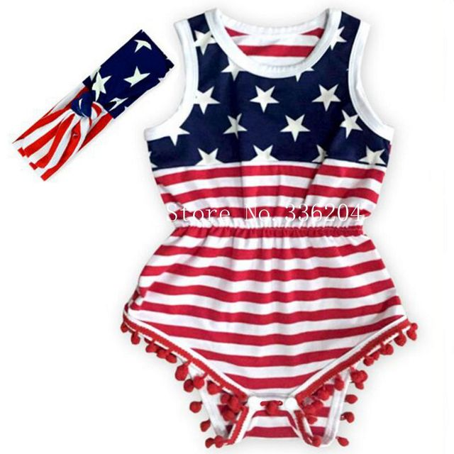 695a03732 Baby Girl fourth of july outfits summer Romper Pretty Romper newborn girl 4th  of july baby july 4th outfit set star print