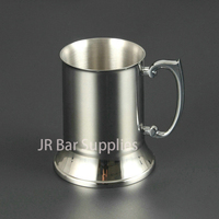 Double Walled Stainless Steel Mug Beverage Cup Mug Rolling Cup Blue Blazer Mug 15 Ounces