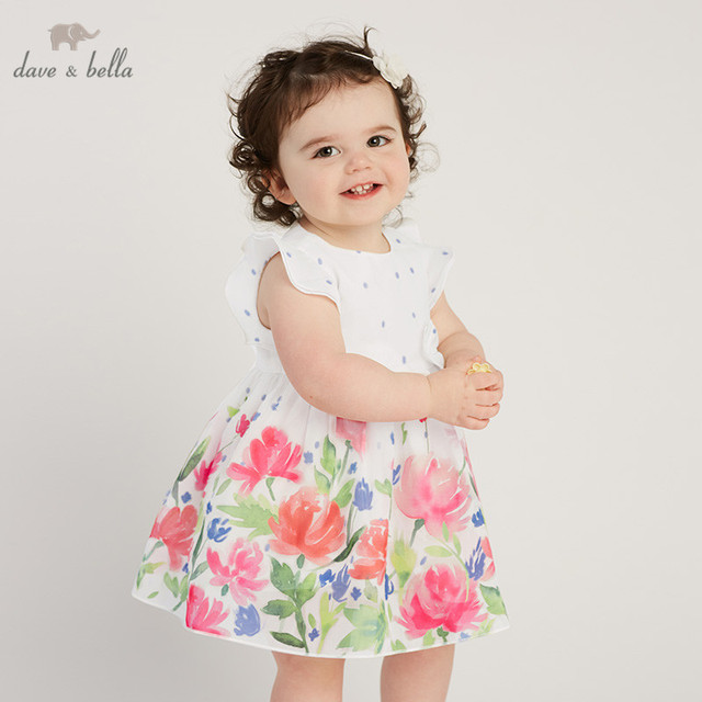 0e5479a04f4dc US $31.52 49% OFF DB10486 dave bella summer baby girl's princess cute  floral dress children party wedding flower dress kids infant lolital  clothes-in ...