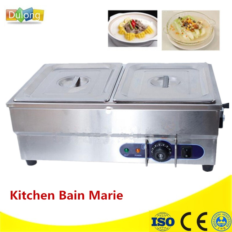Brand New Kitchen Appliance Stainless Steel Two Pans Counter Electric Bain Marie For Food Warmer