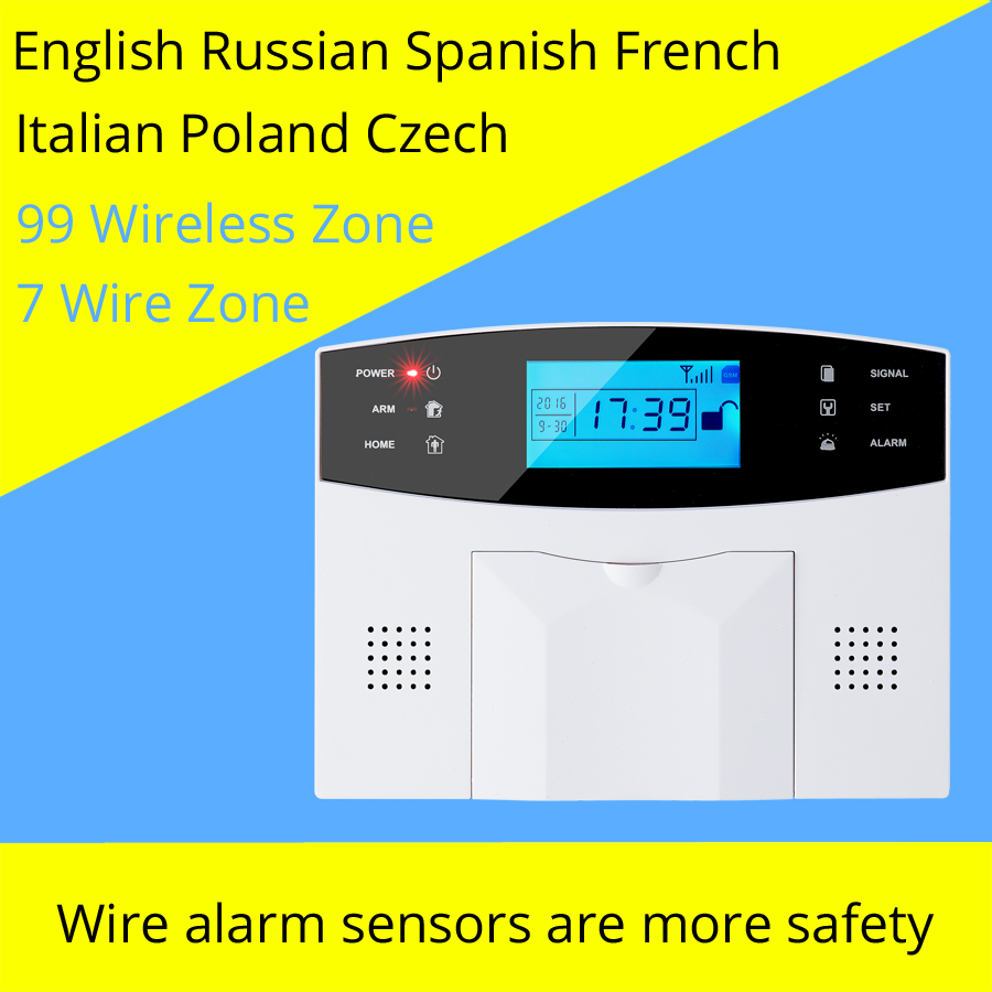 Image 2 - Wireless/wired GSM Voice Home Security Burglar Alarm System Auto Dialing Dialer SMS Call Remote control setting-in Alarm System Kits from Security & Protection
