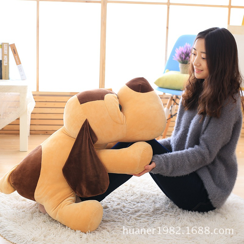85cm Lovely lap dog plush toys Doll pillow big dog birthday gift lovely giant panda about 70cm plush toy t shirt dress panda doll soft throw pillow christmas birthday gift x023