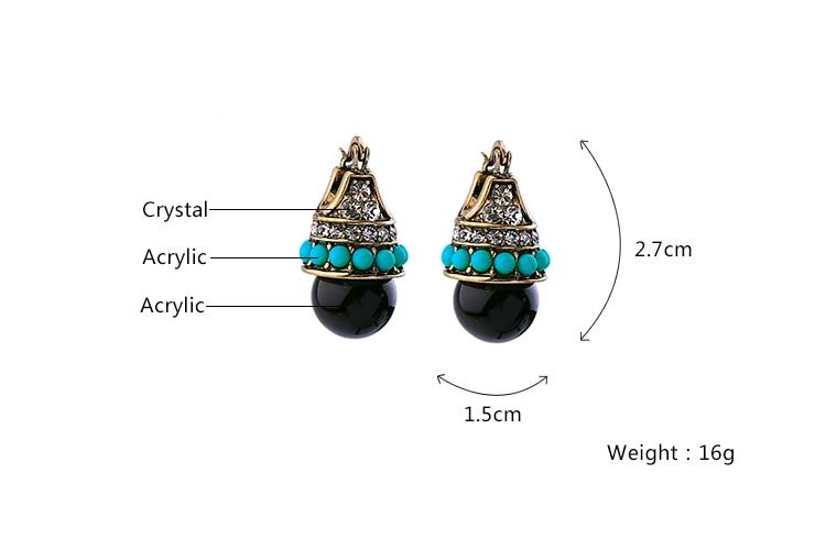 KUS ME Dames Bijoux Vintage Nageloorring Acryl Doorstoken Accessoires - Mode-sieraden - Foto 3