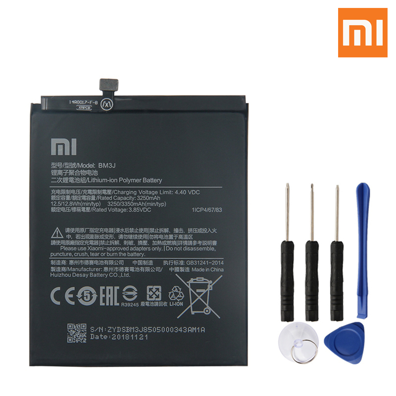 Image 4 - Xiao Mi Original Replacement Phone Battery BM3J For Xiaomi 8 Lite MI8 Lite Genuine Rechargeable Battery 3350mAh-in Mobile Phone Batteries from Cellphones & Telecommunications