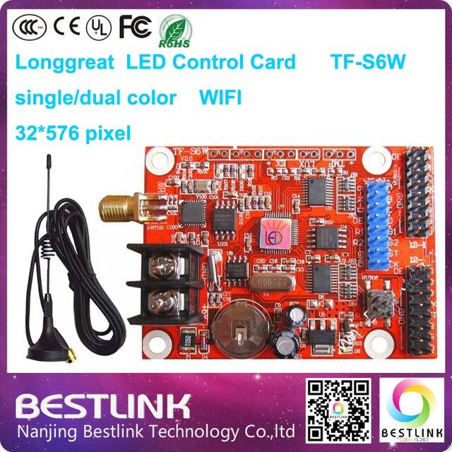 P10 наружных светодиодных вывеска с longgreat контроллер карты tf-s6w один цвет 32*576 пикселей led платы управления wi-fi привело прокрутки