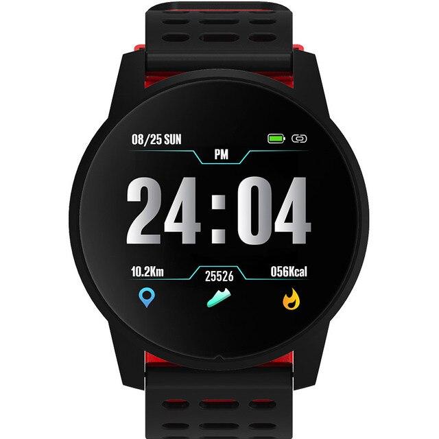 ساعة ذكية الرجال الرياضة مقاوم للماء النشاط جهاز تعقب للياقة البدنية النساء ضغط الدم مراقب معدل ضربات القلب Smartwatch أندرويد ios