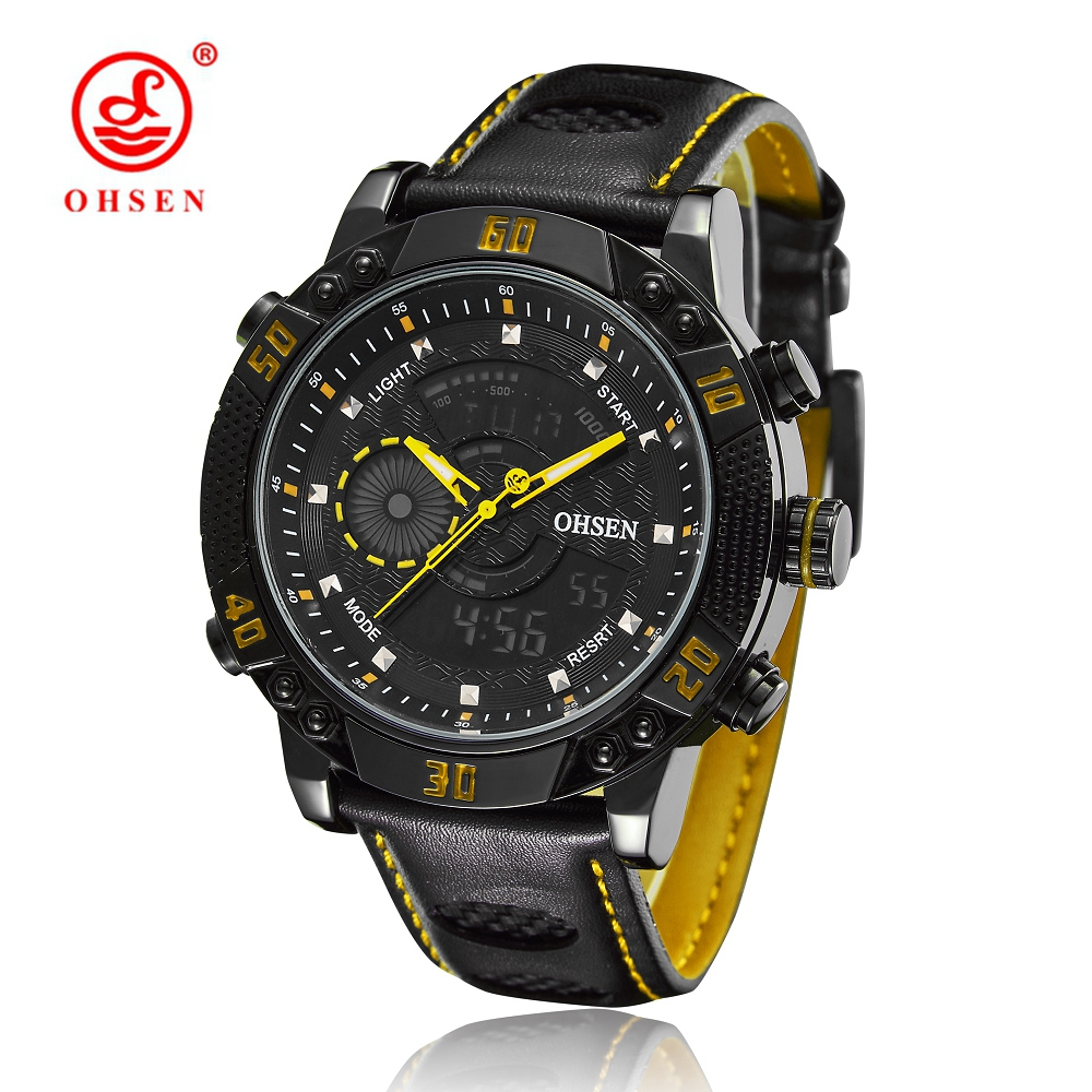 2016 OHSEN Quartz watch Brand Men Relogio Digital watch Relogios Masculinos De Luxo Original Car Watch