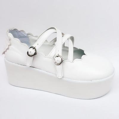 Doux LOLITA princesse chaussures japonais harajuku doux amour coeur ballet lier miroir chaussures en polyuréthane bout rond mary janes étudiant an8004