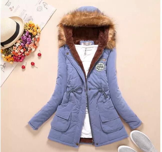M-XXXL kadın kış ceket astar yün ceket 2016 sıcak moda kadın rahat aşağı kapüşonlu ceket kalın sıcak ceket MA035