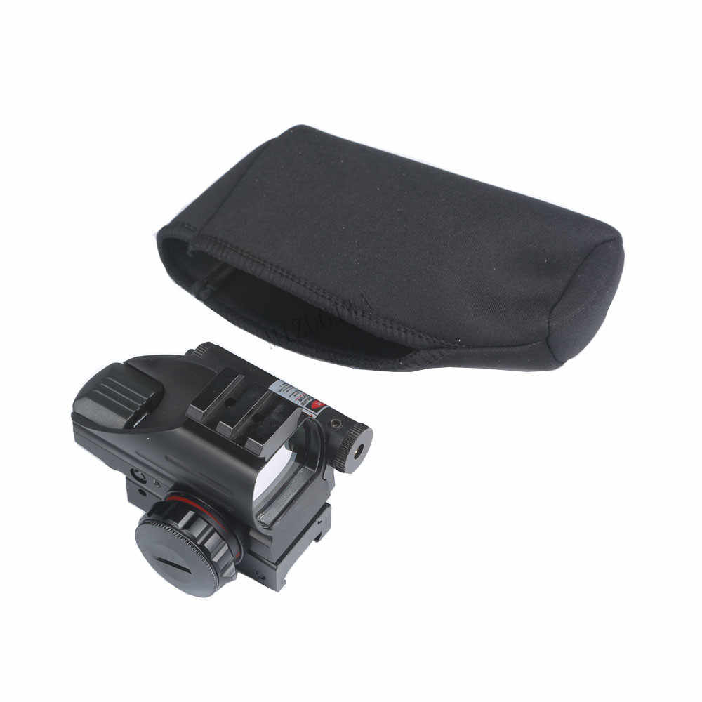 "Tactical 4.7 ""x 2.6"" Scope Cover Dot Sight Cover Bescherm Neopreen Scope Cover Beschermende Jacket Black Hunting Rifle gevallen"