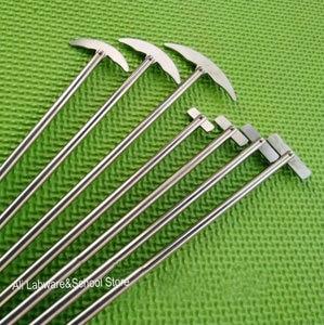 Image 1 - Лопатка лабораторная из нержавеющей стали, 1 шт., лопатка кривая для круглой колбы, пропеллер для смешивателя, миксера, блендера