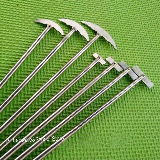 Лопатка лабораторная из нержавеющей стали, 1 шт., лопатка кривая для круглой колбы, пропеллер для смешивателя, миксера, блендера