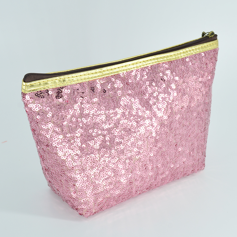 Lady's Cosmetic Bag Toiletry Organizer Sequins Refreshing Bling Bling Makeup Pouch Travel Kit Purse Makeup Bags