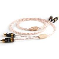 XiaoFan ручной работы X018 лихорадка аудио Динамик сигнальный кабель коаксиальный кабель 2 пары 2 RCA аудио кабель двойной лотос кабель Бесплатная