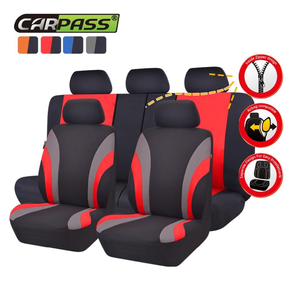 Car-pass Asientos de coche Cubiertas de tela de malla Asientos - Accesorios de interior de coche - foto 3