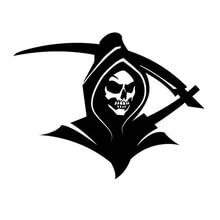 15*11.5CM Reaper Skull And Syth Car Sticker Cool Graphics Funny Car Window Bumper Novelty JDM Drift Vinyl Decal стоимость