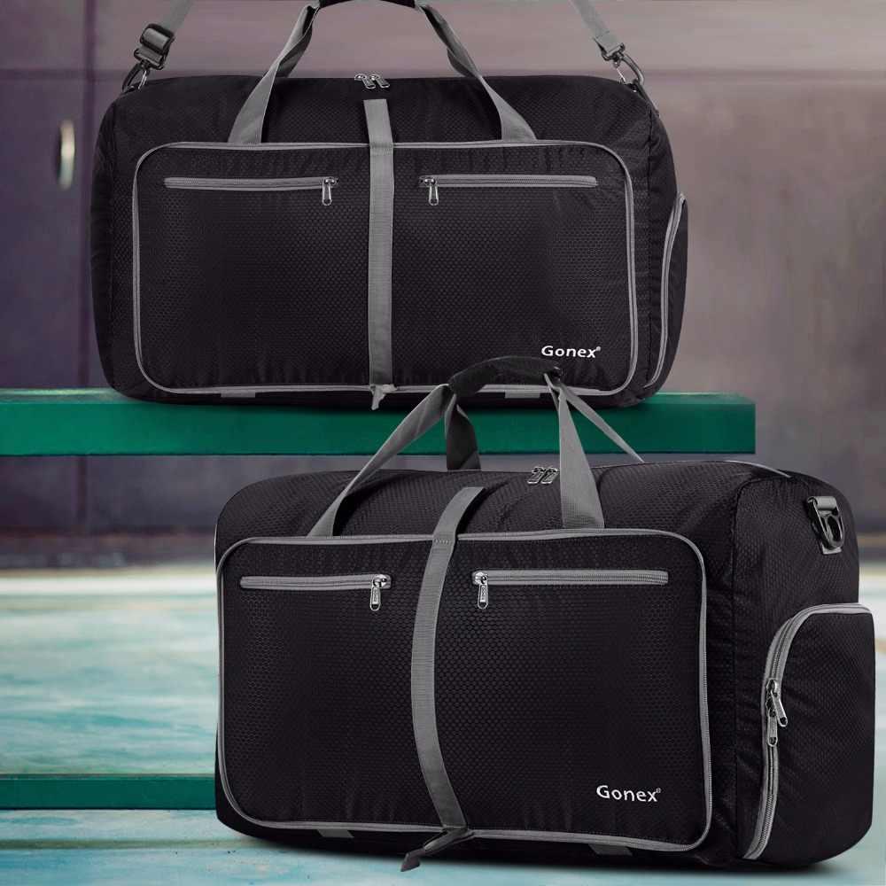 6f363560b619 ... Gonex 150L классический большой Мужская вещевой мешок путешествия  багажные сумки чемодан Packable Сумочка для спортзала выходные ...