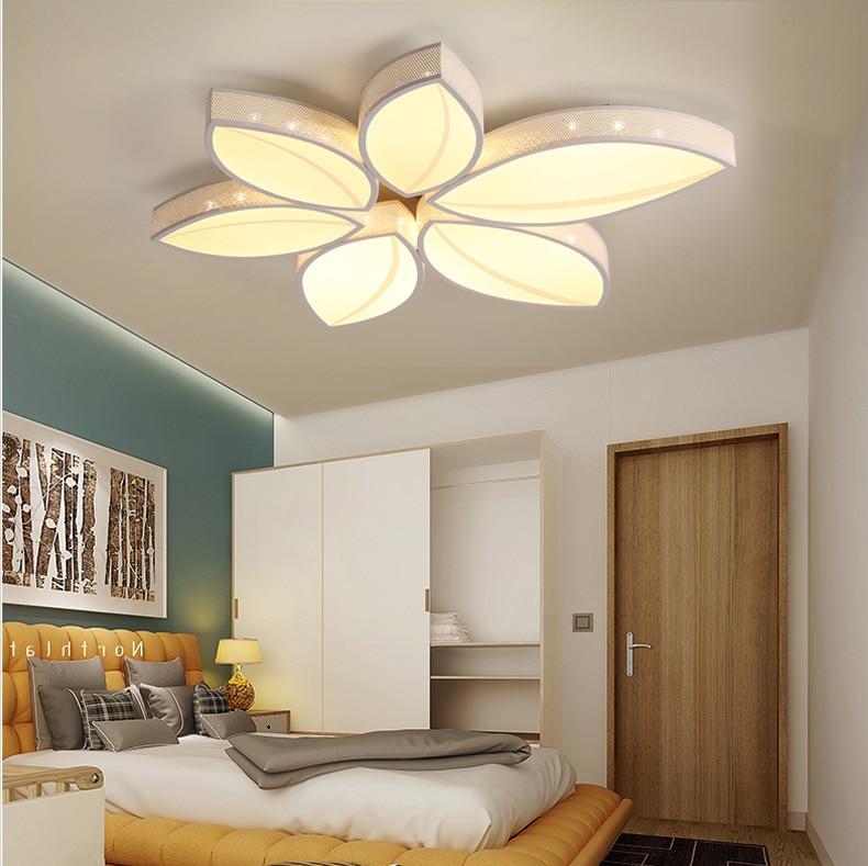 Acrylique led plafonnier lampe feuille chambre plafonniers eclairage led cuisine abajur para quarto luces led techo