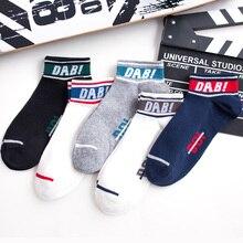 цена на Unisex Men Comfortable Letter Stripe Cotton Youthful Style Socks Slippers Short Ankle Socks Fancinating Women Ankle Socks 2019