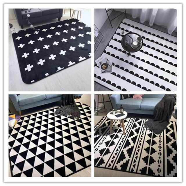 rug cartoon protective bedroom carpet mat item floor crawl geometric baby kids flannel rugs