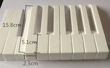 Simulation de clavier de Piano, ensemble complet de 52 touches, grain blanc brillant
